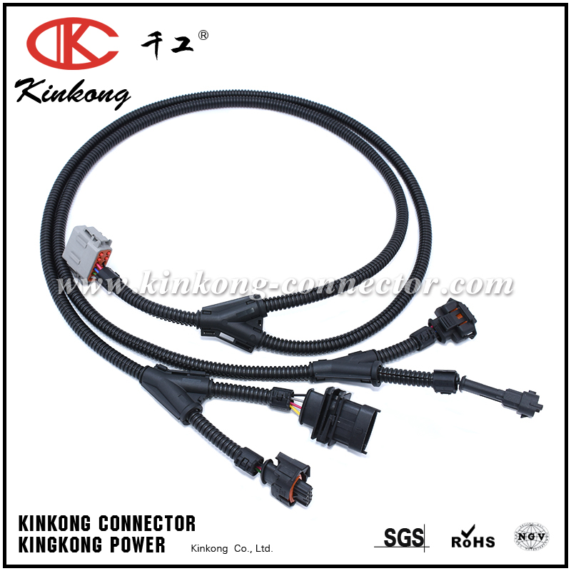 automotive wiring harness with 6 pin deutsch connector and. Black Bedroom Furniture Sets. Home Design Ideas
