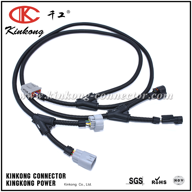 automotive wiring harness with 6 pin deutsch connector and denso rh kinkong connector com car stereo wiring harness connectors car stereo wiring harness connectors