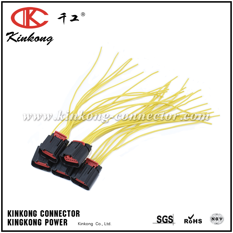 Automotive 6 pin connector pigtail 1-1419168-2 with silicone wires WA025