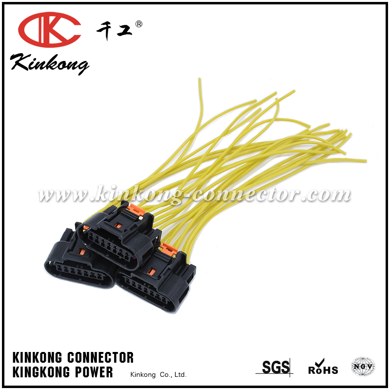 Automotive 7 pin FCI connector pigtail with silicone wires WA026