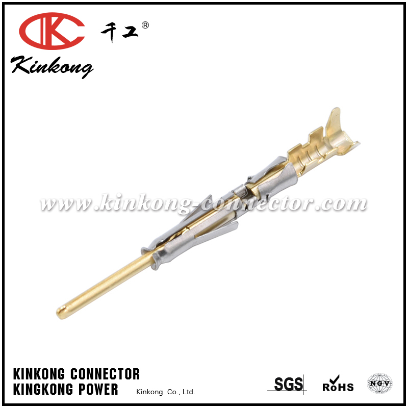 SP20W1F PIN CONTACT, STAMPED, SIZE 20, GOLD FLASH, WIRE RANGE 0.34-0.50MM², 22-20AWG, 5A. COMPATIBLE TO PART SM20W3J