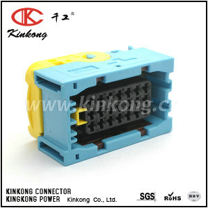 High quality blue ecu female 21 pin connector for tyco replacement  CKK7211C-3.5-21
