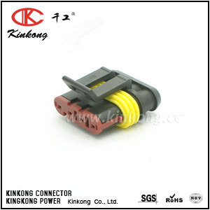282088-1 4 pole female wire connectors CKK7041-1.5-21