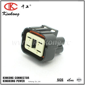 344080-1 4 pin female automotive electrical connectors CKK7047-6.3-21