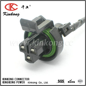 3 pin female waterproof type cable connectors CKK7033Q-2.8-21