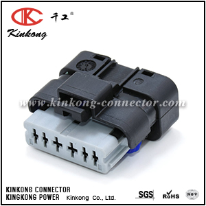 6 way female auto electric plastic connector plug CKK7063A-1.5-2.5-21