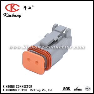 DT06-2S 2 pin DT series female electrical connector CKK3021-1.5-21