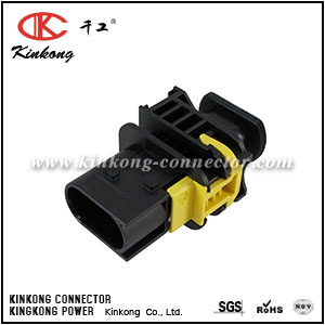1-1670730-1 3 pins male waterproof auto connector CKK7039B-1.5-11
