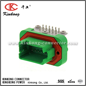 DT13-12PC-B016 12 ways green male electrical connector
