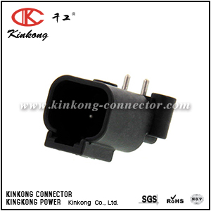 DTF13-2P 2 hole blade black car electrical connector