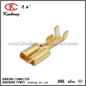 Terminal for waterproof automotive connector CKK007-6.3FN