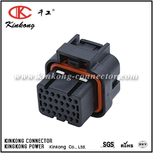 Kinkong customize 26 way female waterproof wire connector CKK726D-1.6-21