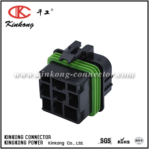 12092605 5 Way Base, 4 usable Black Metri-Pack 630 Sealed Female Connector Assembly, Max Current 46 amps CKK7042A-6.3-21