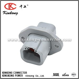 ATP04-4P-PM01 4-WAY RECEPTACLE, MALE FLANGE. COMPATIBLE TO PART DTP04-4P-L012