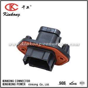 AT04-08PB-PM07G 8 POSITION PANEL MOUNT RECEPTACLE WITH ENDCAP, PIN, WITH GASKET. KEY POSITION B