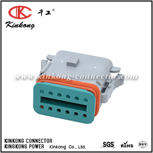 12-Way Plug, Female Connector with A Position Key and Reduced Diameter Seal (E-Seal). Compatible to part AT06-12SA-RD01