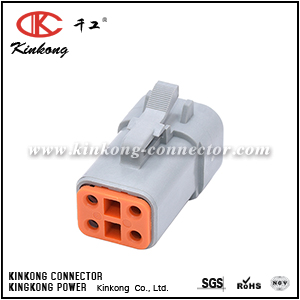 ATP06-4S 4-WAY PLUG, FEMALE. COMPATIBLE TO PART  DTP06-4S