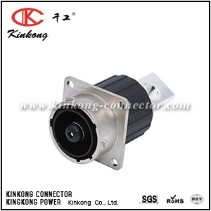 RTHP0161PN-H1 8MM SINGLE SQUARE FLANGE RECEPTACLE, MALE, HIGH AMPERAGE, FLAT TAIL, 630V, SHELL SIZE 16
