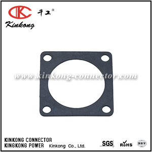 RTFD14B SQUARE FLANGE RECEPTACLE GASKETS, SHELL SIZE 14, THICKNESS 0.8MM (±0.2). COMPATIBLE TO PART UTFD14B