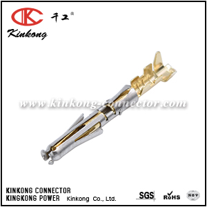 SS20W1F SOCKET CONTACT, STAMPED, SIZE 20, GOLD FLASH, WIRE RANGE 0.34-0.50MM² 20-22AWG, 5A. COMPATIBLE TO PART SC20W3J