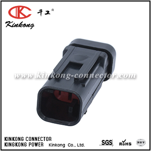 776428-1 2 pole black plastic auto connector with TPA for CAT Excavator CKK3025R-1.5-11