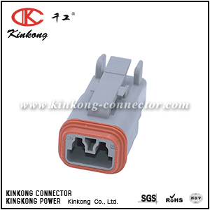 DT06-2S TE 2 pole receptacle socket housing
