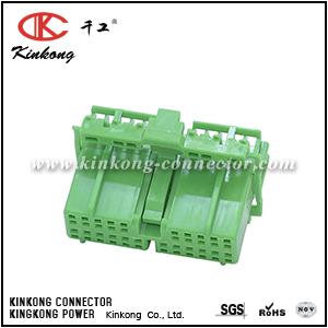 IL-AG5-22S-D3C1 Female Housing OBD2 Civic Green Chassis 22 way wiring connector CKK5222E-0.7-21