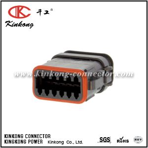 DT06-12SB-E008 12 way female electrical connector