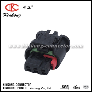 1488991-1 3 way female cable connector CKK7034BW-1.0-21