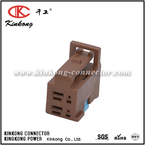 6098-2830 4 pole female Hybrid electrical connector
