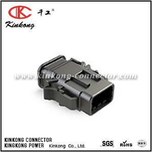 ATM06-08SB-SR1BK 8-WAY PLUG, FEMALE CONNECTOR, B POSITION KEY WITH STRAIN RELIEF. COMPARABLE TO PN DTM06-08SB-E007